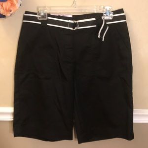 NWT White Stag belted Bermuda shorts